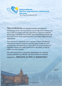applications. Welcome to Oslo in September!
