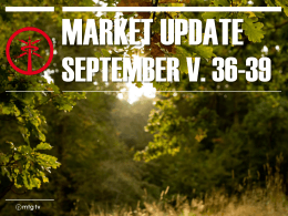 Market Update september 2014