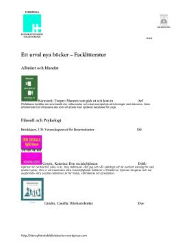 Nya böcker hösten 2014