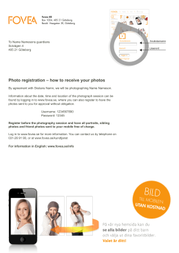 TILL MOBILEN UTAN KOSTNAD Photo registration – how to