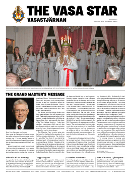 Winter 2014 - the Vasa Order of America.