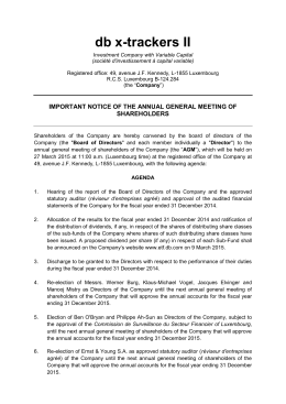 important notice of the annual general meeting of shareholders