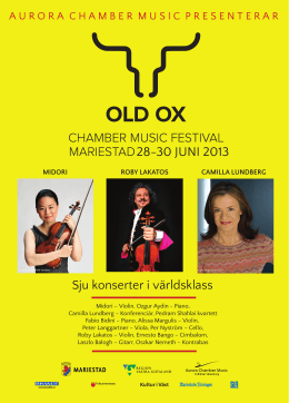 Old Ox chamber music festival