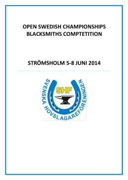 open swedish championships blacksmiths comptetition strömsholm