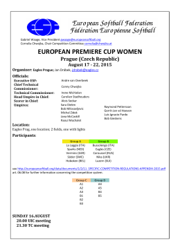 EUROPEAN PREMIERE CUP WOMEN Prague (Czech Republic)