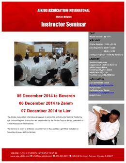 Affiche Toyoda Sensei Dec instructor seminar AAI
