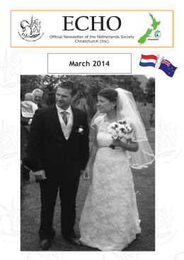 March 2014 - Federation of New Zealand Netherlands Societies Inc