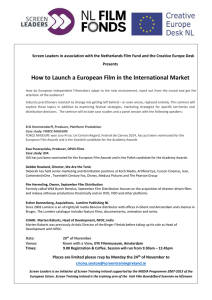 How to Launch a European Film in the International Market