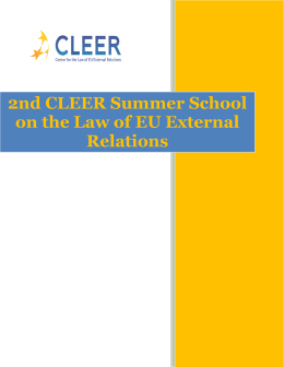 2nd CLEER Summer School on the Law of EU