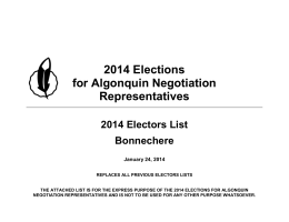 2014 Electors List- Bonnechere
