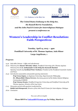 Women`s Leadership in Conflict Resolution: Faith Perspectives
