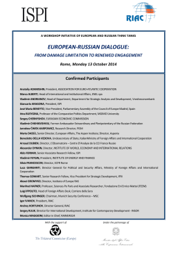 EUROPEAN-RUSSIANDIALOGUE: