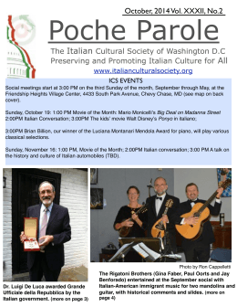 October 2014 PP final pdf - Italian Cultural Society of Washington DC