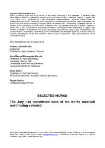 SELECTED WORKS The Jury has considered none of the works