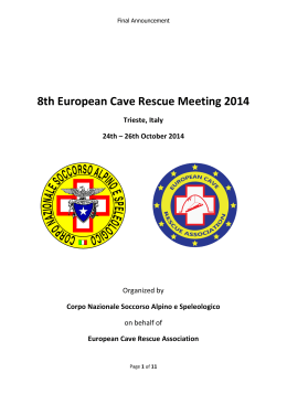 8th European Cave Rescue Meeting 2014