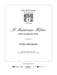 Programme - Early Music Society of the Islands