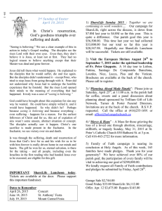 Parish Bulletin - Holy Angels` Roman Catholic Church