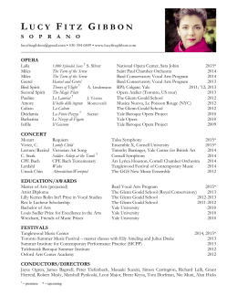 Download Resume - Lucy Fitz Gibbon, soprano