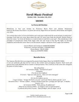 Verdi Music Festival - ItalyVacations.com