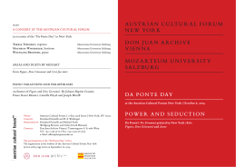da ponte day power and seduction austrian cultural forum new york