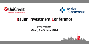 Download Programme - Italian Investment Conference