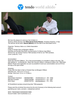 Page 1 We have the pleasure to send you the Invitation to: Tendoryu