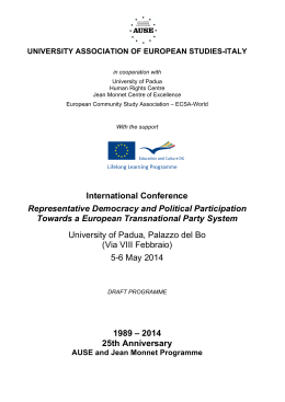 International Conference Representative Democracy and