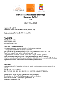 "International Masterclass for Strings ""Gioconda De Vito"" 2014"