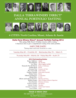 DALLA TERRAWINERY DIRECT ANNUAL PORTFOLIO TASTING