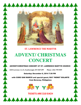 ADVENT/ CHRISTMAS CONCERT