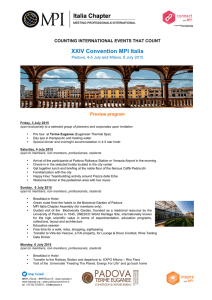 Preview MPI Italia XXIV Convention Padova