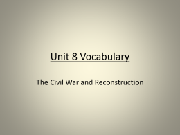 Unit 8 Vocabulary Powerpointx