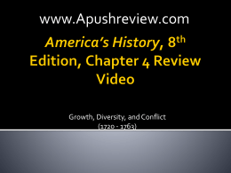 America`s History Chapter 4