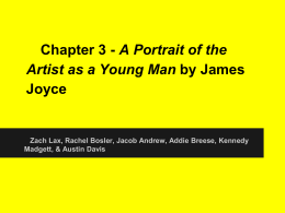 Portrait of the Artist as a Young Man Chapter 3 PowerPoint