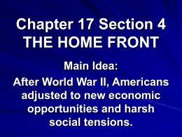 Chapter 17 Section 4 THE HOME FRONT