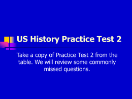 Practice Test 2 Powerpoint