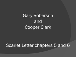 Scarlet Letter chapters 5 and 6