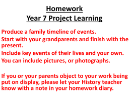 Homework Year 7 Project Learning - Cliff Park Ormiston Academy VLE