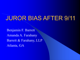 JUROR BIAS AFTER 9/11 - Justice at Work