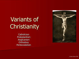 Variants of Christianity