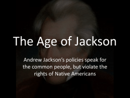a comparison of the viewpoints of the jeffersonian and jacksonian democracies Over the last year or so, in and among the other issues i've tried to discuss in this blog, the us presidential campaign has gotten a certain amount of air time.