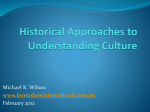 Historical Approaches to Understanding Culture