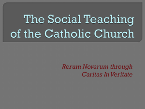 The-Social-Teaching-of-the-Catholic-Church-Presentatation