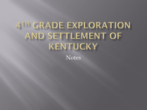 4th Grade Exploration and Settlement of Kentucky