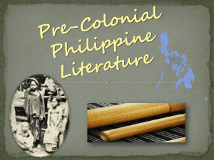 Pre-Colonial Philippine Literature
