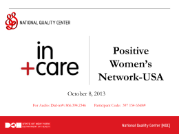 Positive Women`s Network-USA Webinar