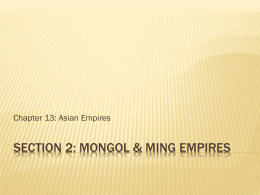 Ch. 13.2 Mongol & ming empires