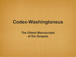 IntroCODEX-W - Woodland Oaks Church of Christ