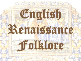 English Renaissance Folklore 3