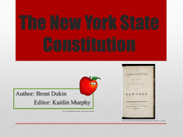 The New York State Constitution - The Hudson River Valley Institute